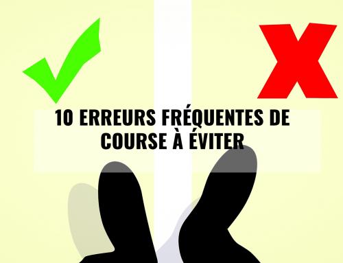 10 erreurs fréquentes de course à éviter
