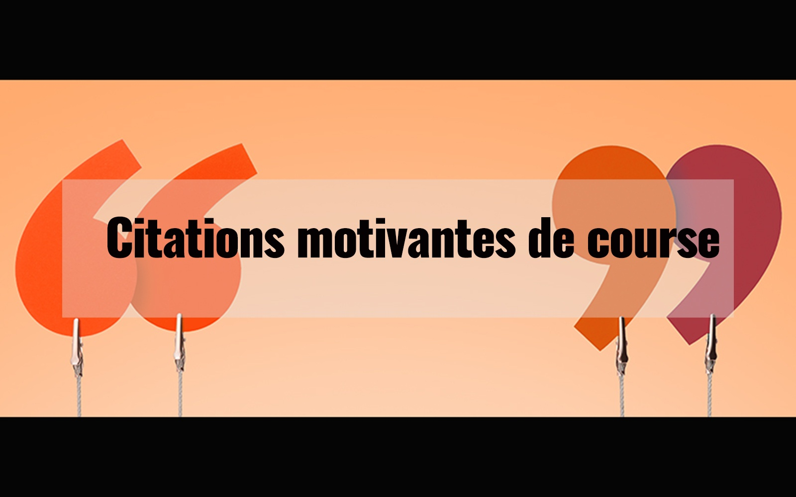 Citations motivantes de course à pied