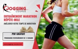 Entraînement marathon répète-mile 8