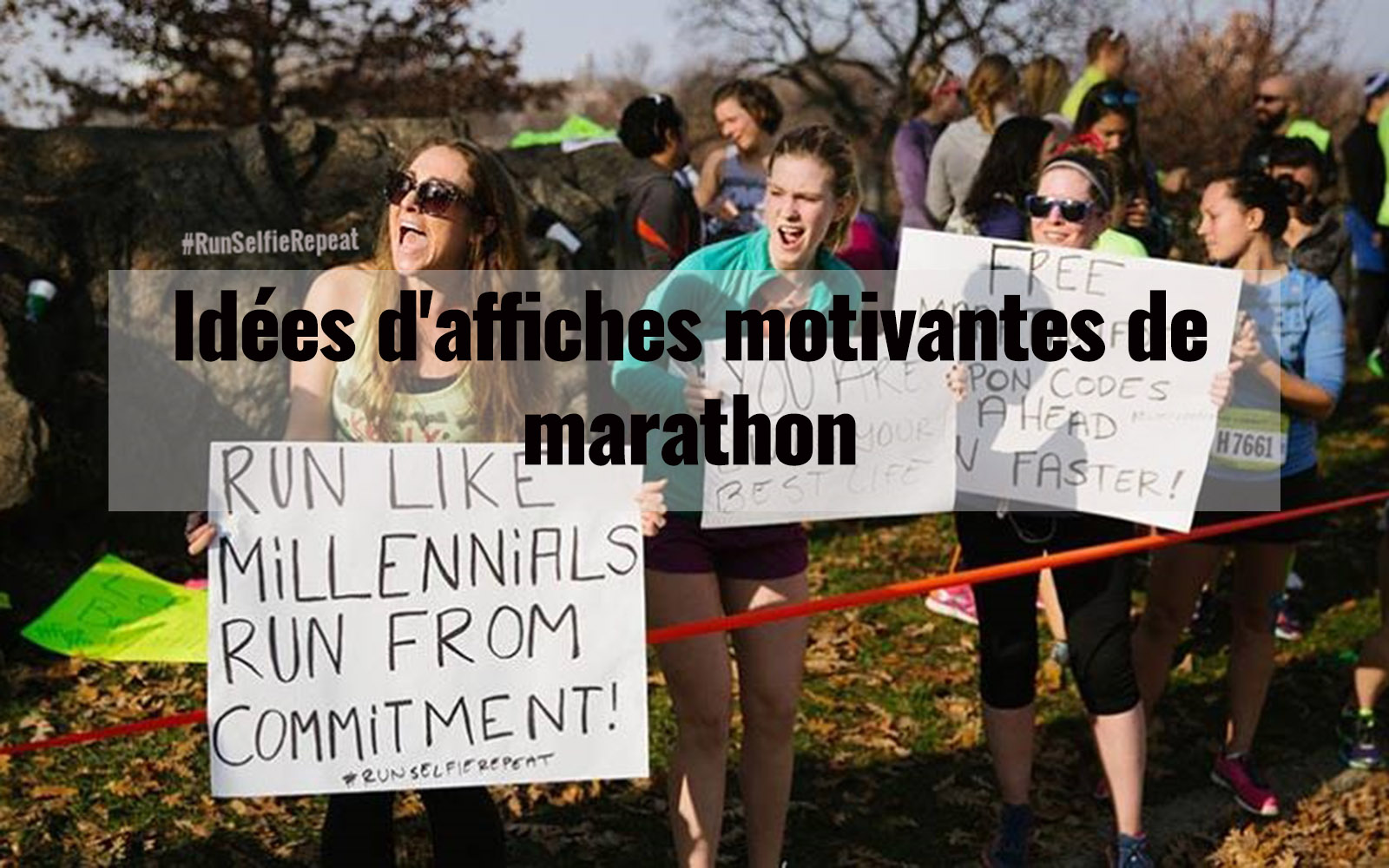 Idées d'affiches motivantes de marathon