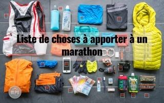 Liste de choses à apporter à un marathon 6