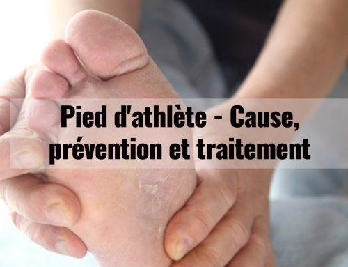 Pied d'athlète, cause, prévention et traitement