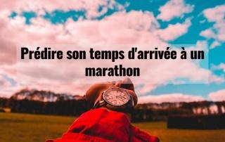 Prédire son temps d'arrivée à un marathon 10