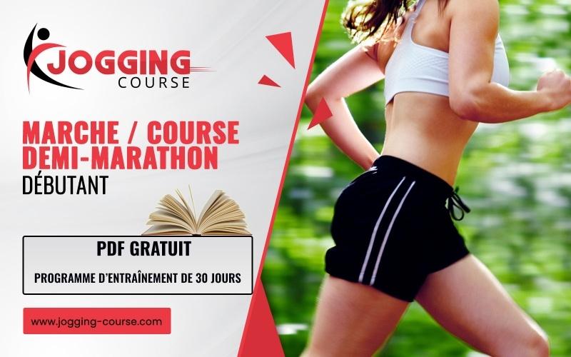 programme de marche et course demi-marathon jogging-course