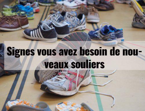 Signes vous avez besoin de nouveaux souliers