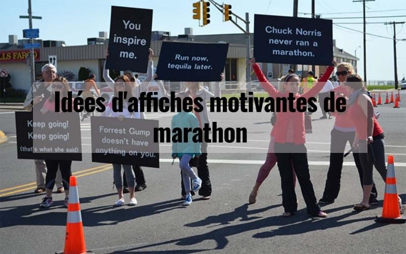 Idées d'affiches motivantes de marathon 1