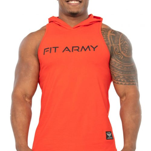 COMMANDER SLEEVELESS V2.0 SCOOP T-SHIRT STRETCH RED