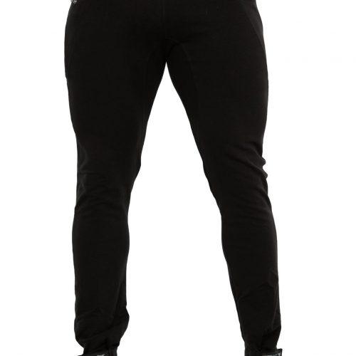 raven jogger noir avec zip sur le côté vue de devant
