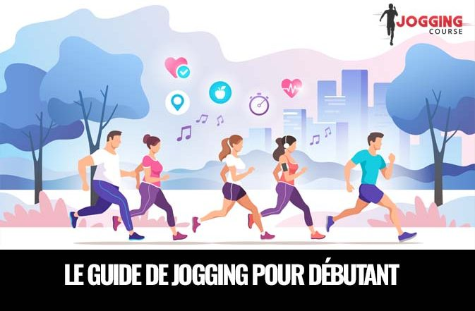 le guide de jogging, groupe de gens qui courent ensemble